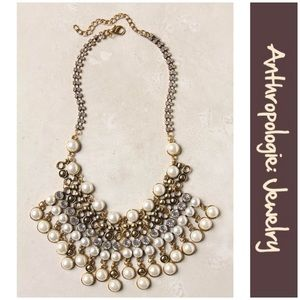 "Anthro ""Pearl Drops Necklace"""